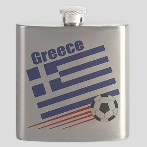Greece Soccer Team Flask