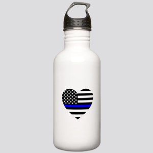 Thin Blue Line Love Stainless Water Bottle 1.0L