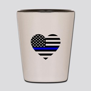 Thin Blue Line Love Shot Glass