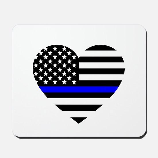 Thin Blue Line Love Mousepad