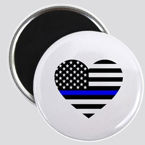 Thin Blue Line Love Magnet