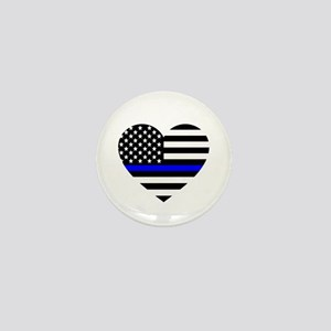 Thin Blue Line Love Mini Button