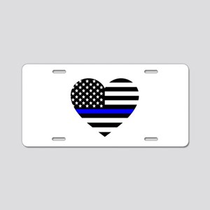 Thin Blue Line Love Aluminum License Plate