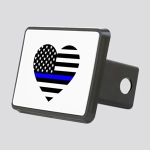 Thin Blue Line Love Rectangular Hitch Cover