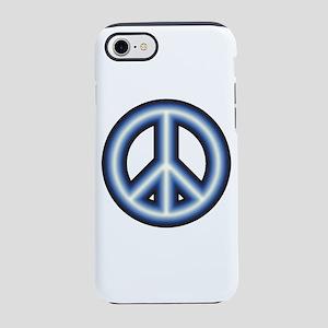 Blue Peace Symbol iPhone 8/7 Tough Case