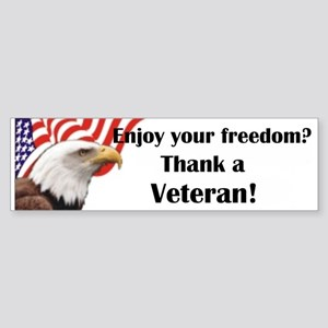 Thank a Veteran Bumper Sticker