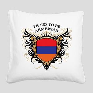proud_armenian Square Canvas Pillow