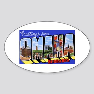 Omaha Nebraska Greetings Oval Sticker