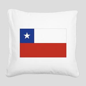 flag_chile Square Canvas Pillow