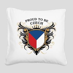 proud_czech Square Canvas Pillow