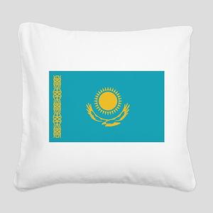 flag_kazakhstan Square Canvas Pillow