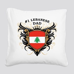 n1_lebanese_dad Square Canvas Pillow