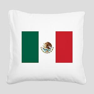 flag_mexico Square Canvas Pillow