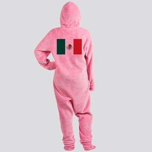 flag_mexico Footed Pajamas