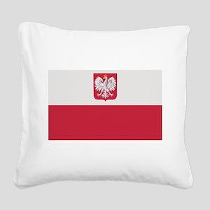 flag_poland Square Canvas Pillow