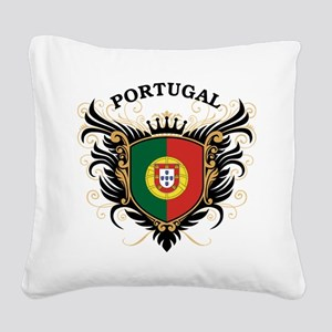 Portugal Square Canvas Pillow