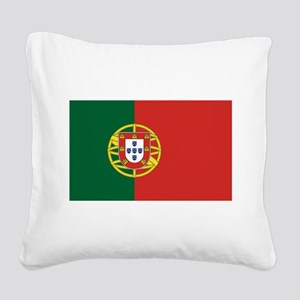 Flag of Portugal Square Canvas Pillow