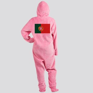 Flag of Portugal Footed Pajamas