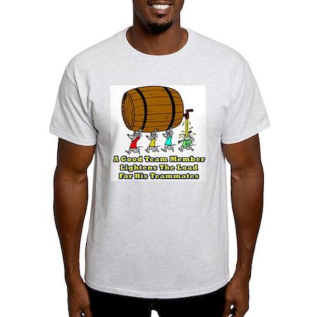 Teamwork and Beer Ash Grey T-Shirt