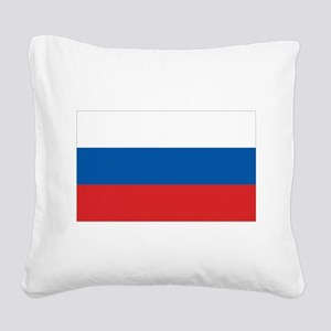 3-flag_russia Square Canvas Pillow