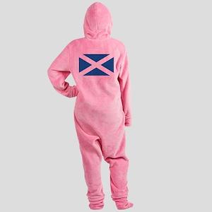 flag_scotland Footed Pajamas
