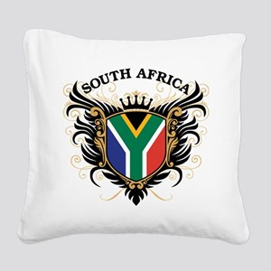 South Africa Square Canvas Pillow