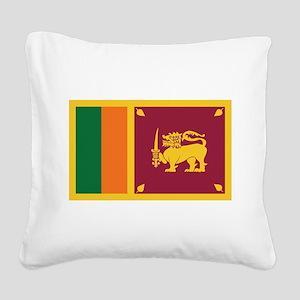 flag_srilanka Square Canvas Pillow