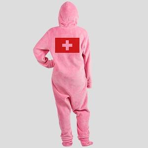 flag_switzerland Footed Pajamas