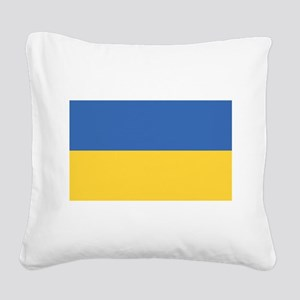 flag_ukraine Square Canvas Pillow