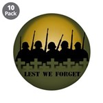 """Lest We Forget War Memorial 3.5"""" Button (10 pack)"""