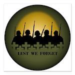 "Lest We Forget War Memorial Square Car Magnet 3"" x"