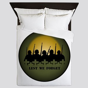 Lest We Forget War Memorial Queen Duvet