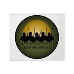 Lest We Forget War Memorial Throw Blanket