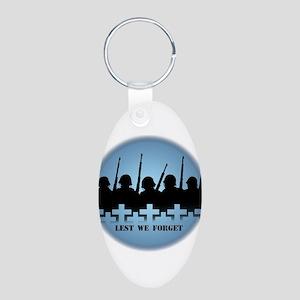 Lest We Forget War Memorial Keychains