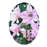 Pink Wildflowers Oval Ornament
