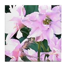 Pink Wildflowers Tile Coaster
