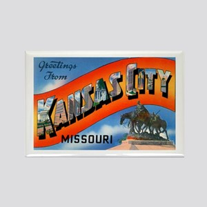 Kansas City Missouri Greetings Rectangle Magnet