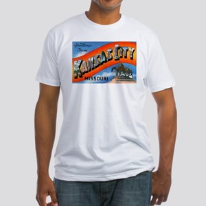 Kansas City Missouri Greetings (Front) Fitted T-Sh