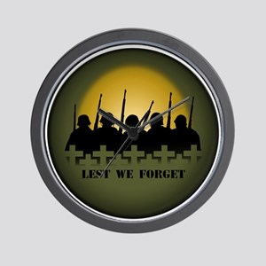 Lest We Forget War Memorial Wall Clock