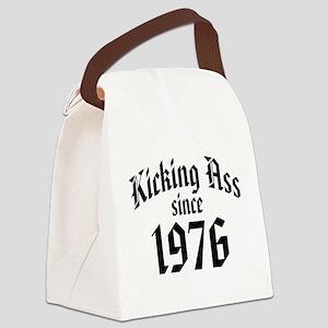 Kicking Ass Since 1976 Canvas Lunch Bag