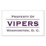 propertyof Sticker (Rectangle 50 pk)