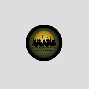 Lest We Forget War Memorial Mini Button