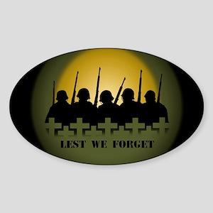 Lest We Forget War Memorial Sticker