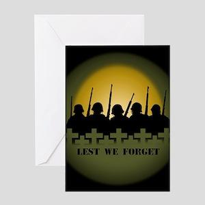 Lest We Forget War Memorial Greeting Cards