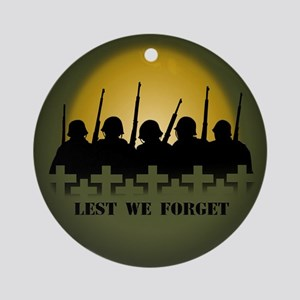 Lest We Forget War Memorial Round Ornament