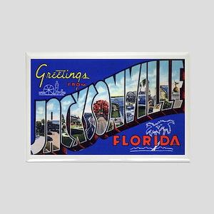 Jacksonville Florida Greetings Rectangle Magnet