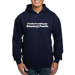 Standard Poodle Hoodie (dark)