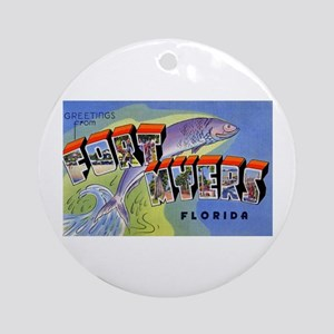 Fort Myers Florida Greetings Ornament (Round)