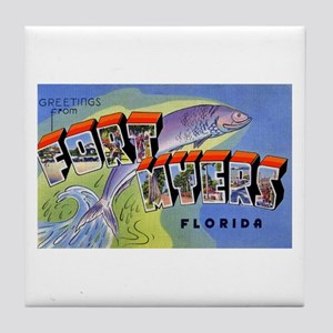 Fort Myers Florida Greetings Tile Coaster