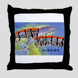 Fort Myers Florida Greetings Throw Pillow